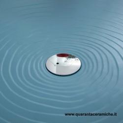 Piatto Doccia 140 X 80 Ceramica.Flaminia Water Drop Cloud Blue Shower Tray Quaranta Ceramiche