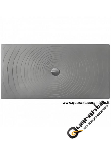 Flaminia Water Drop Lava Grey Shower Tray Quaranta Ceramiche