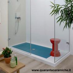 Flaminia Water Drop Cloud Blue Shower Tray Quaranta Ceramiche