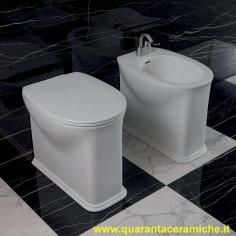 Ceramica Flaminia App kit sospeso vaso Goclean, bidet e coprivaso rallentato slim