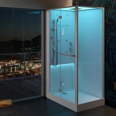 Albatros cabina doccia Keybox A900 90x90 vaporsystem con bagno turco tonda