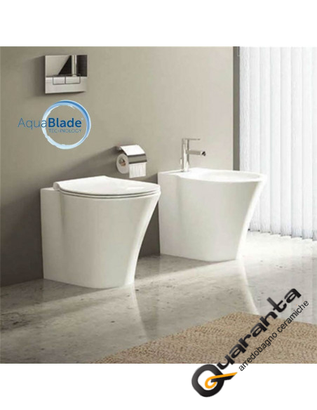 Ideal Standard Vaso Connect.Ideal Standard Connect Air Back To Wall Toilet Bidet And Seat Quaranta Ceramiche