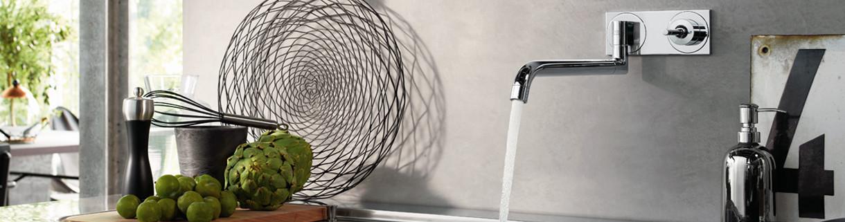 Faucets - Taps - Kitchen - Wall-mounted - mixer | Quaranta Ceramiche