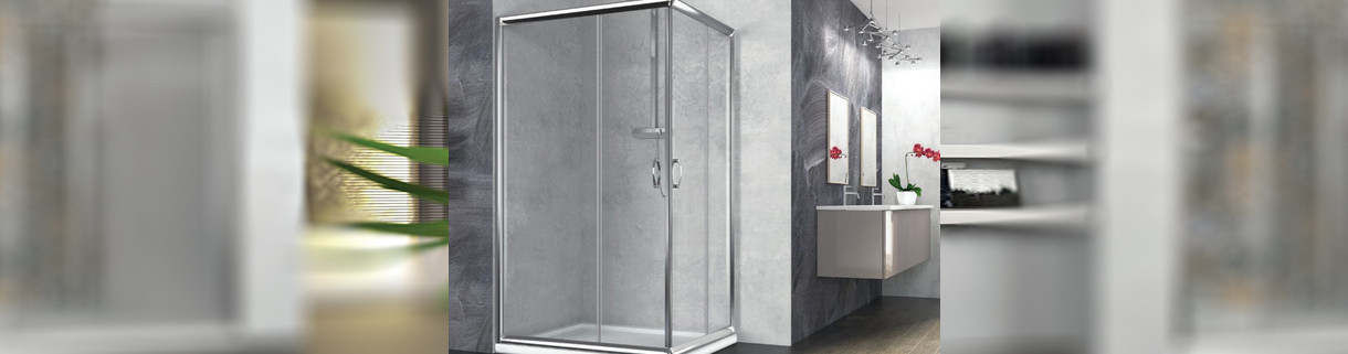 shower -box - rectangle - sliding - bathroom | Quaranta Ceramiche srl