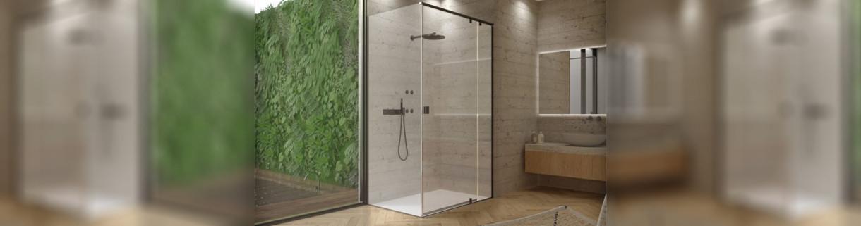 shower -box - rectangle - swing - bathroom | Quaranta Ceramiche srl