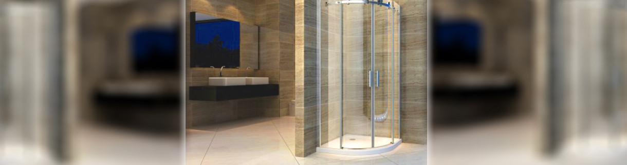 shower -box - semicircle - symmetric - bathroom | Quaranta Ceramiche