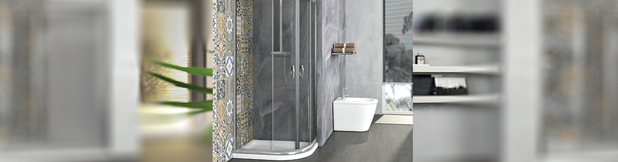 shower -box - semicircle - Asymmetrical- bathroom | Quaranta Ceramiche
