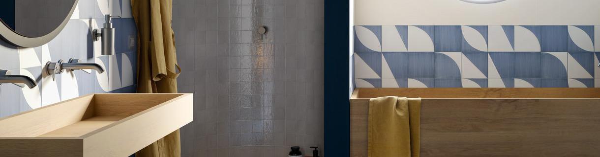 bathroom - Wall Tiles - cladding - stoneware | Quaranta ceramiche srl