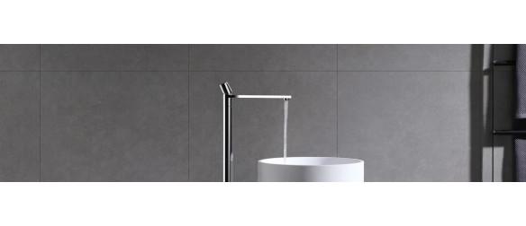 Floor-standing washbasin taps