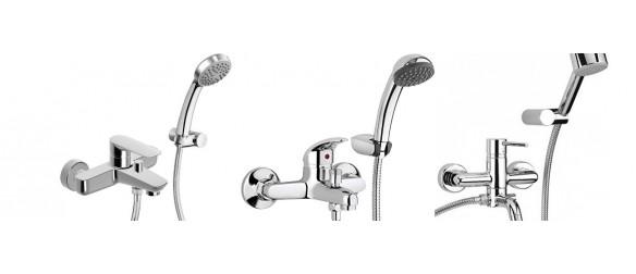Single-lever bath taps