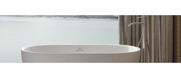 Floor-standing bath taps