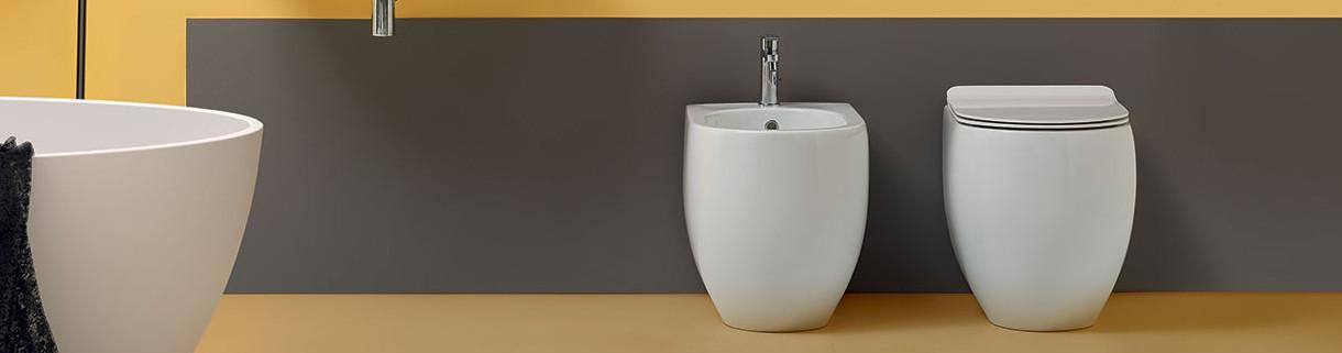 Wall-mounted- sanitary - ceramics - toilets - bidet|Quaranta ceramiche